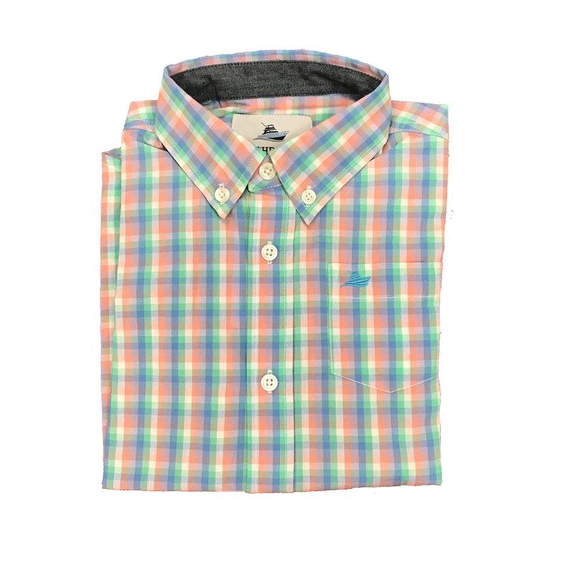SOUTHBOUND LS DRESS SHIRT- OPAL/PEACH/BLUE