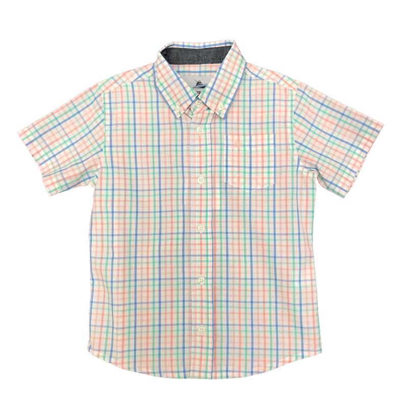 SOUTHBOUND SS DRESS SHIRT- BLUE/PINK/OPAL