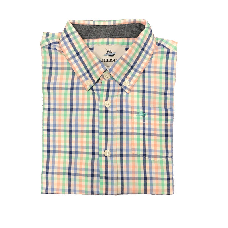 SOUTHBOUND LS DRESS SHIRT- BLUE/BLUE MULTI
