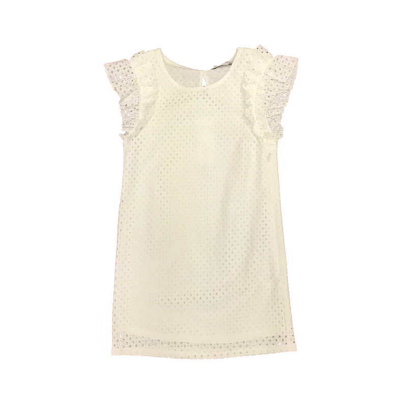 MINI MOLLY WOVEN DRESS- WHITE