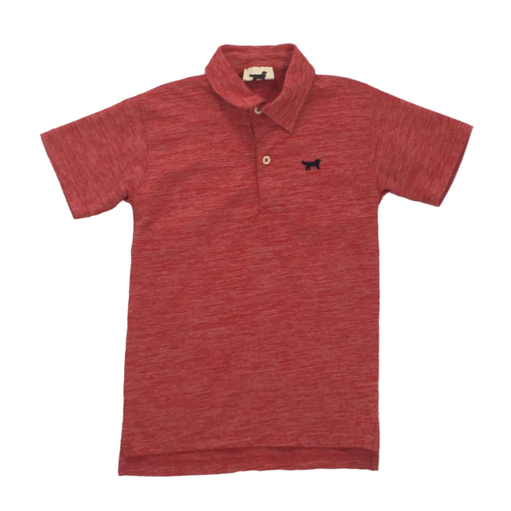 WES AND WILLY CLOUDY YARN SS POLO- CHERRY
