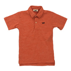 WES AND WILLY CLOUDY YARN SS POLO- ORANGE CRUSH