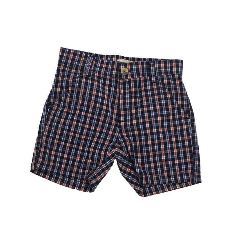 WES AND WILLY PLAID SHORT- MIDNIGHT