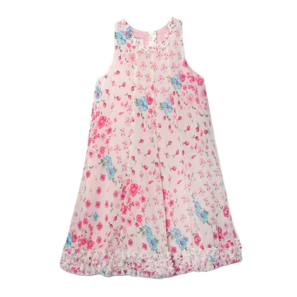 ISOBELLA & CHLOE CHIFFON A-LINE DRESS- PINK