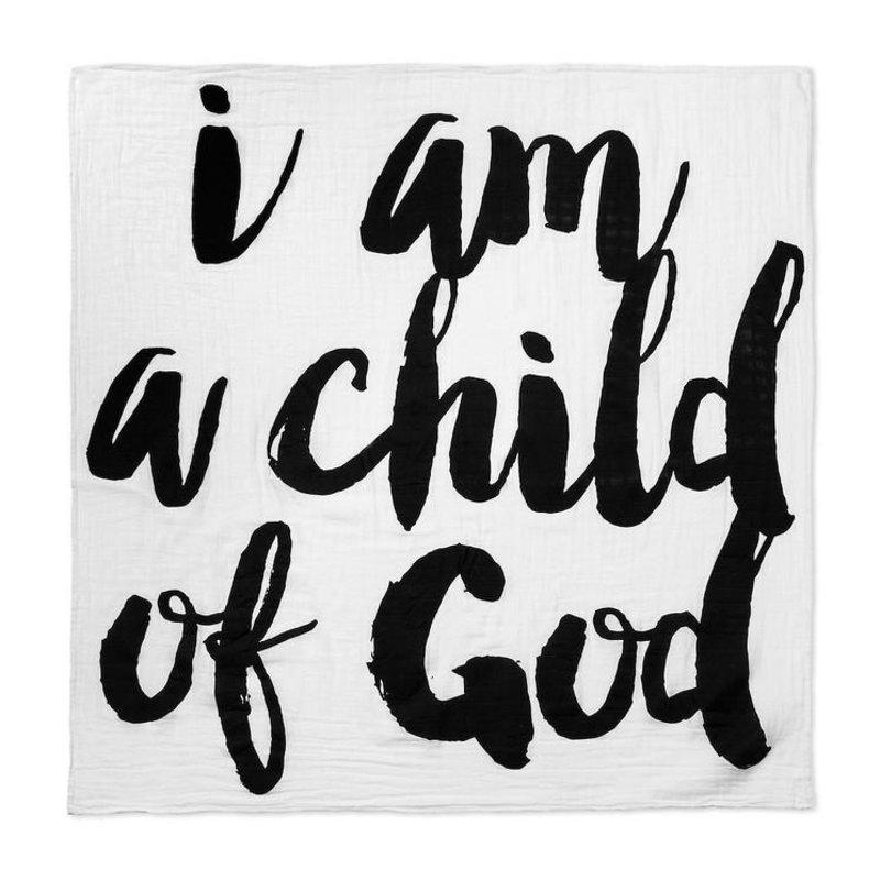 MODERN BURLAP SWADDLE- CHILD OF GOD