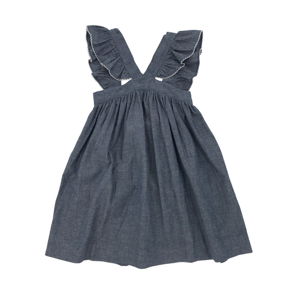 SAGE & LILLY CAROLINA CHAMBRAY CAROLINE CROSS DRESS