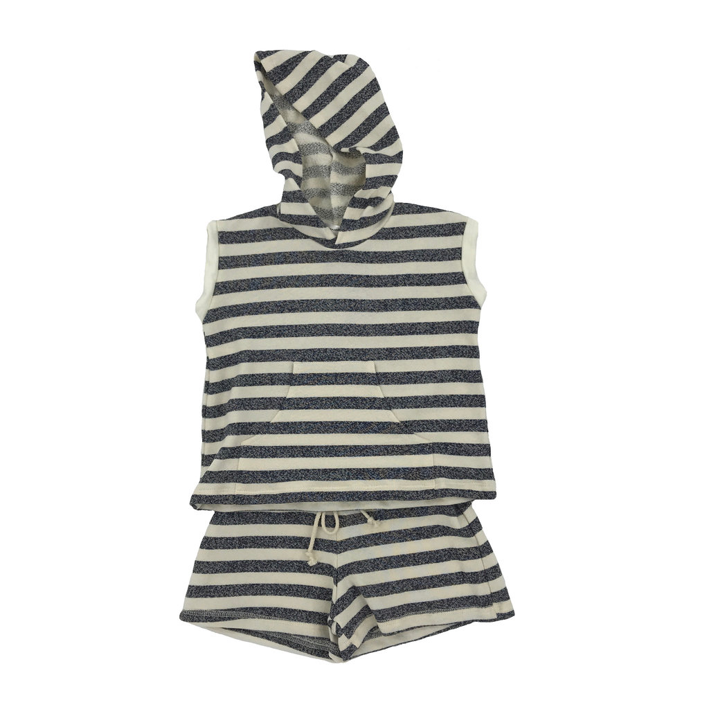 CAMILLE FRENCH TERRY HOODIE AND QUINN POCKET SHORTS