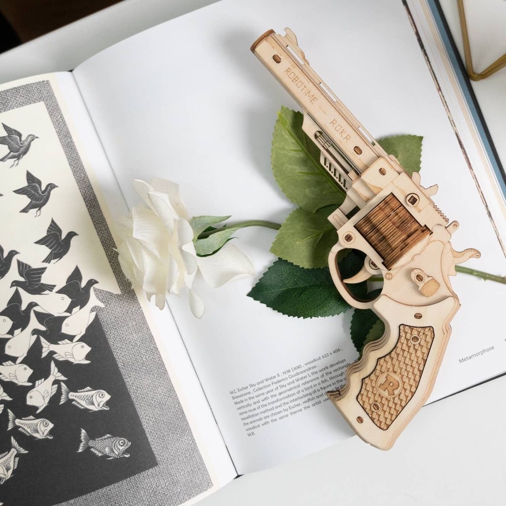 HANDS CRAFT DIY 3D PUZZLE: CORSAC M60 RUBBER BAND GUN