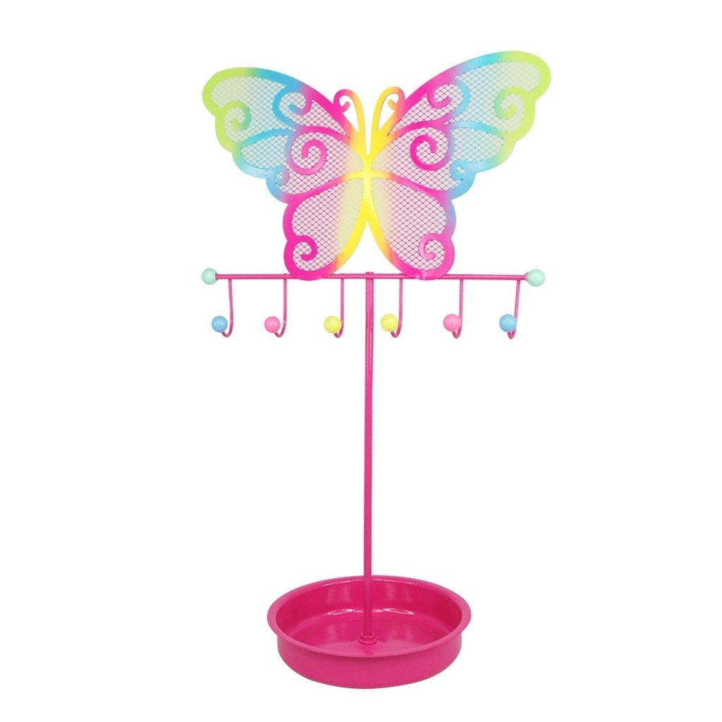 COLORFUL BUTTERFLY JEWELRY STAND