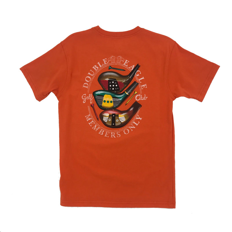 WES AND WILLY JT GOLF SS TEE- ORANGE CRUSH