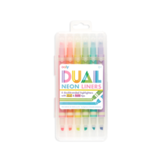 OOLY DUAL LINER DOUBLE-ENDED HIGHLIGHTERS - SET OF 6