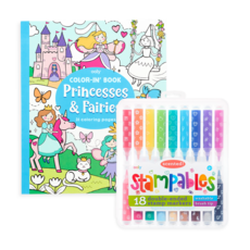 OOLY GIFTABLES- PRINCESS AND FAIRIES STAMPABLES COLORING PACK