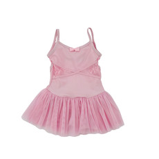 DANSHUZ CAMI DRESS WITH LACE INSERTS