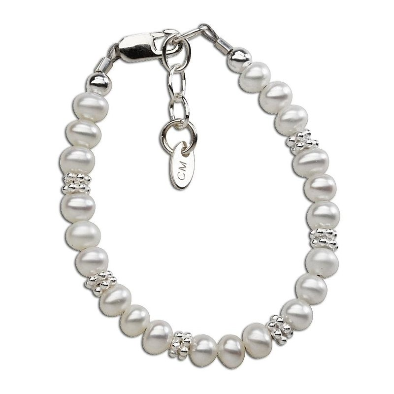 CHERISHED MOMENTS VICTORIA - STERLING SILVER PEARL BRACELET