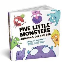 SOURCEBOOKS FIVE LITTLE MONSTERS JUMPING ON THE BED