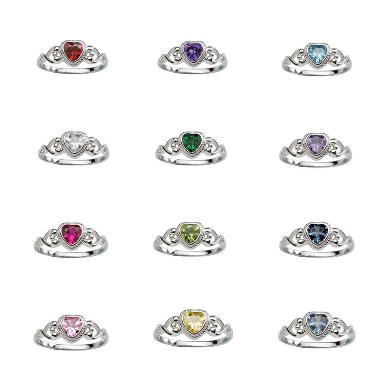 CHERISHED MOMENTS STERLING SILVER BIRTHSTONE RING