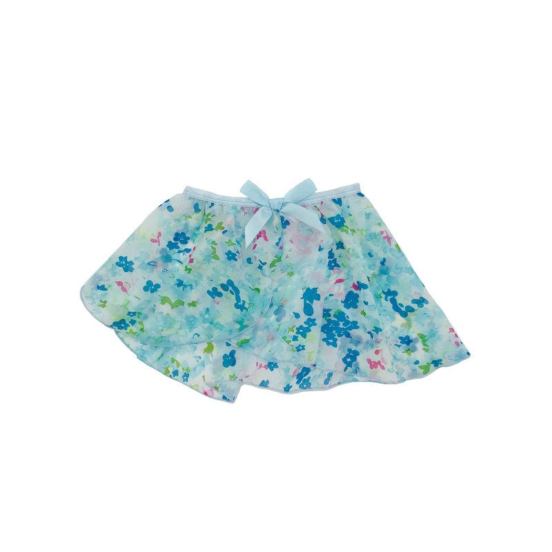 DANSHUZ PASTEL FLOWERS SKIRT- BLUE