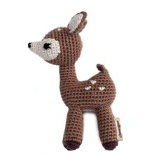 FAWN HAND CROCHETED RATTLE