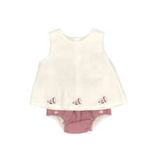 SOUTHERN SATURDAY GIRL DIAPER SET - RED/GRAY