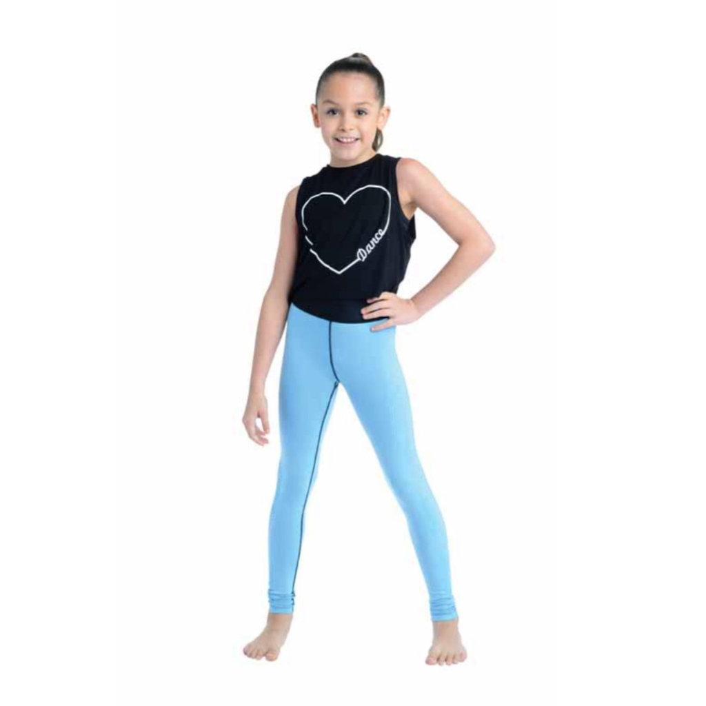 DANSHUZ DANCE HEART TANK TOP - BLACK
