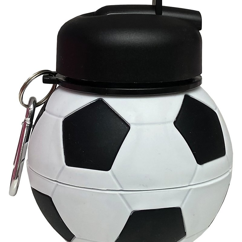 ISCREAM SOCCER SILICONE COLLAPSIBLE WATER BOTTLE