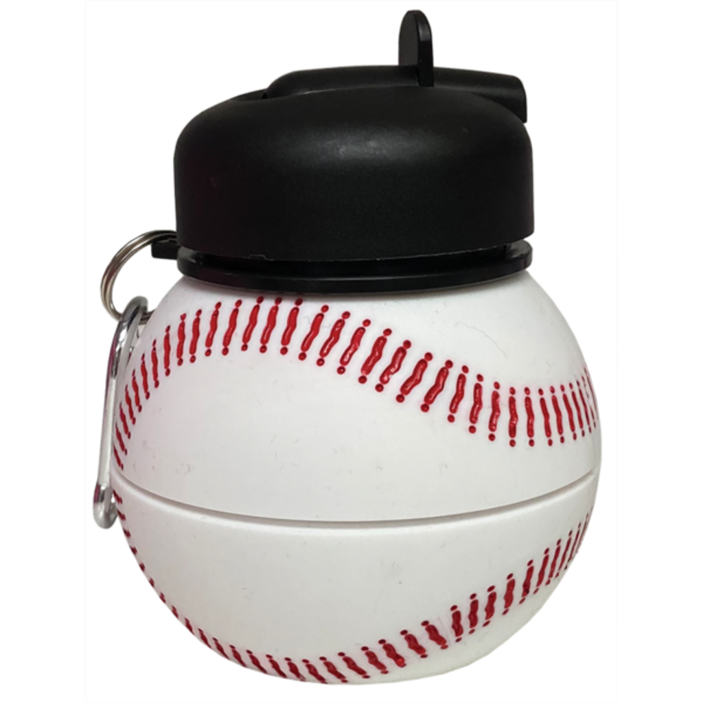 ISCREAM BASEBALL SILICONE COLLAPSIBLE WATER BOTTLE