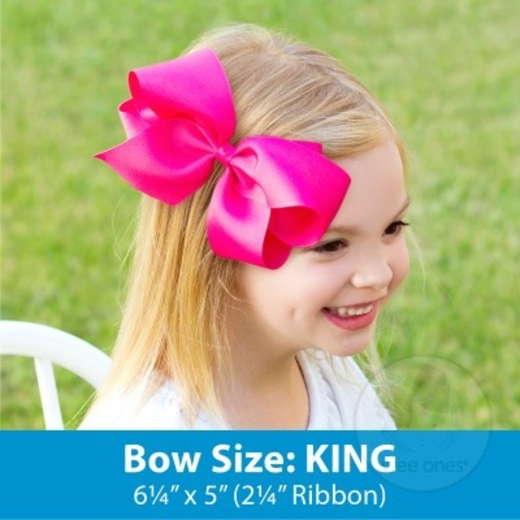 WEE ONES KING BIG SISTER GG PRINT BOW