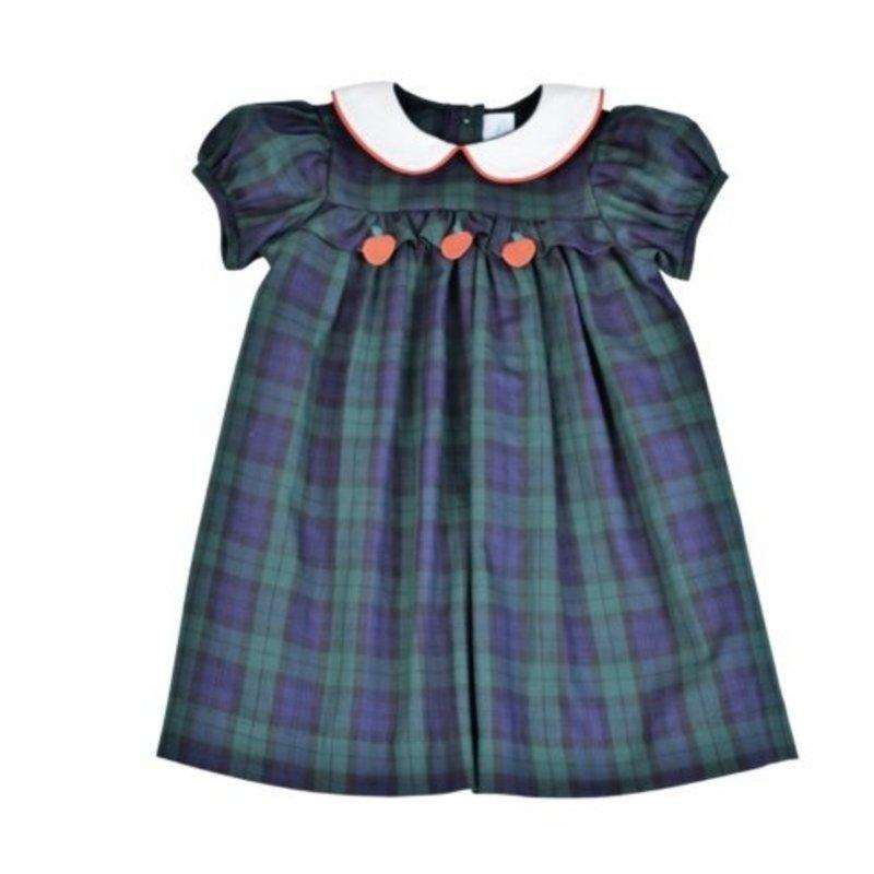 FUNTASIA TOO APPLES DRESS - NAVY/GREEN PLAID