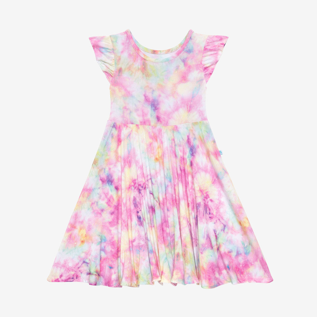 POSH PEANUT JOPLIN - RUFFLED CAPSLEEVE BASIC TWIRL DRESS