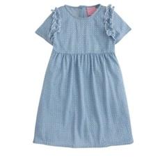 LITTLE ENGLISH HELEN DRESS - BANDANA BLUE