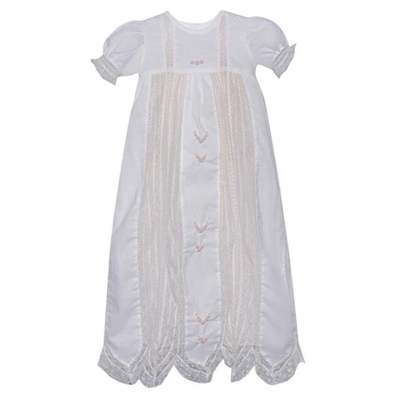 BABY SEN WHITE PAT CHRISTENING GOWN