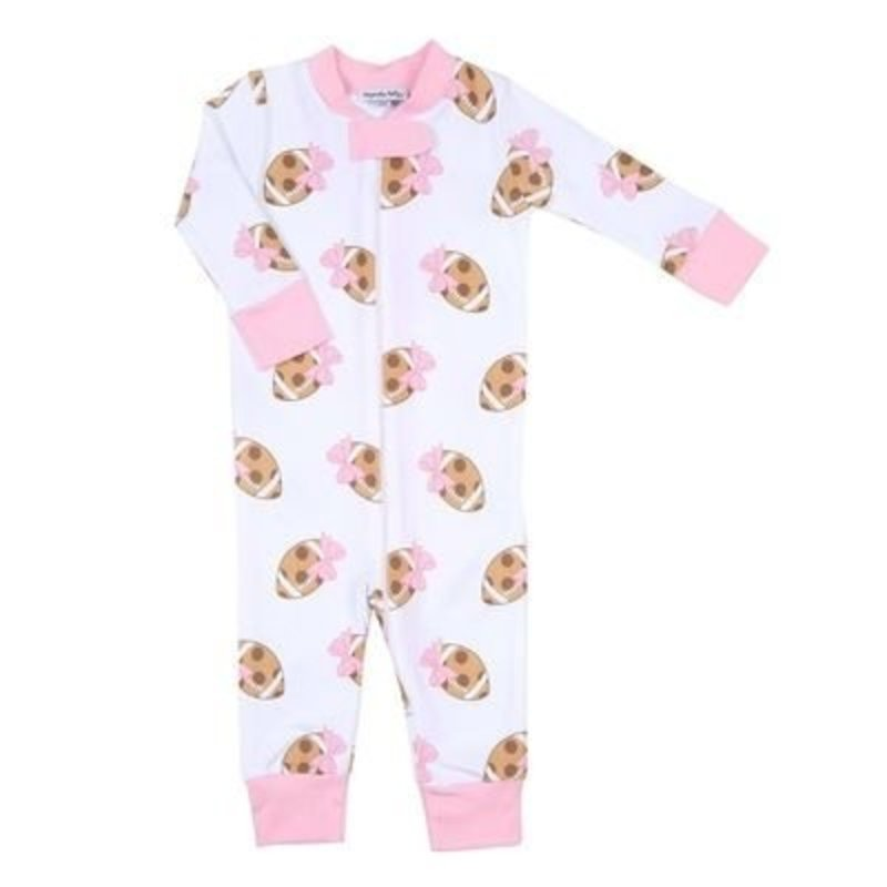 MAGNOLIA BABY TOUCHDOWN PRINTED PLAYSUIT - PK