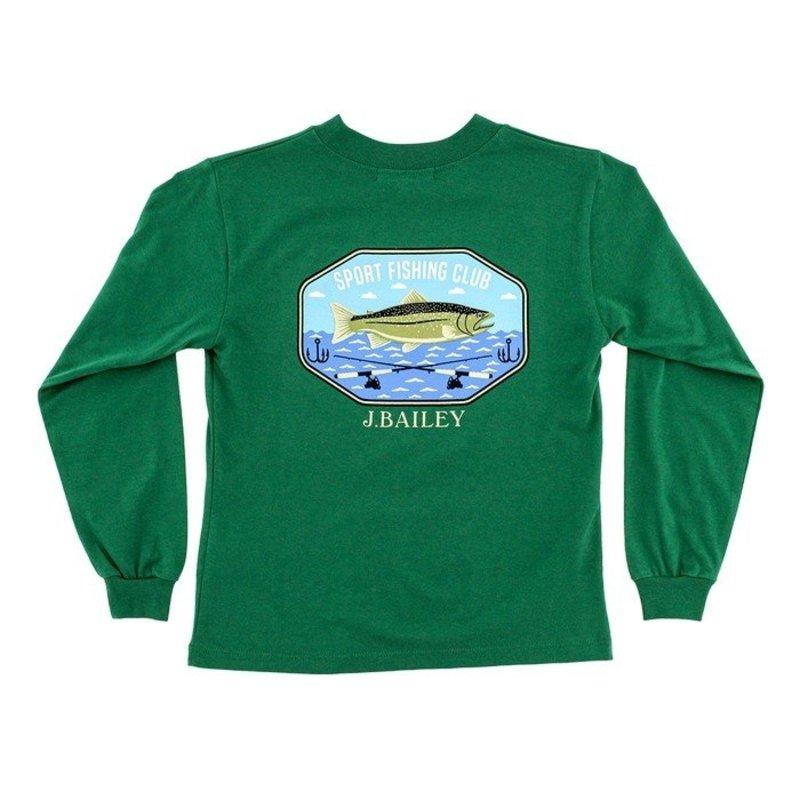 J.BAILEY LOGO TEE - FISHING CLUB ON GREEN