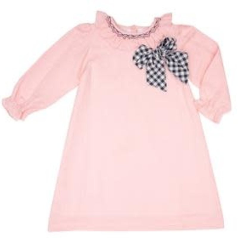 THE OAKS APPAREL COMPANY JENSEY PINK NAVY DRESS