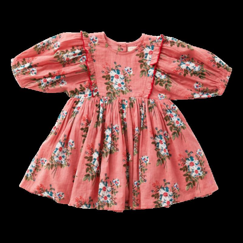 PINK CHICKEN JULIET DRESS - MAUVEGLOW FRANKEN FLORAL