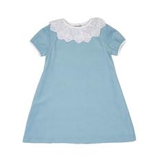 THE OAKS APPAREL COMPANY ELIZABETH BLUE BOW DRESS