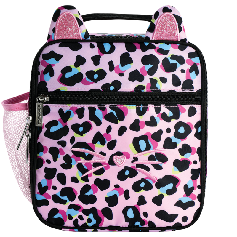 ISCREAM PINK LEOPARD LUNCH TOTE