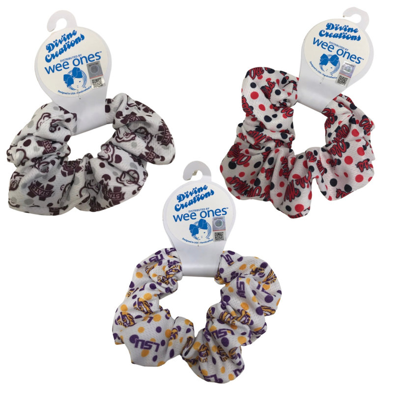 WEE ONES GAME DAY SCRUNCHIES DOT PRINT