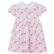 LULLABY SET AUDREY BOW DRESS - PINK FLORAL
