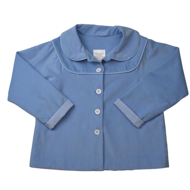 LULLABY SET COLIN COAT LS - BLUE CORD/ROYAL MINI GINGHAM