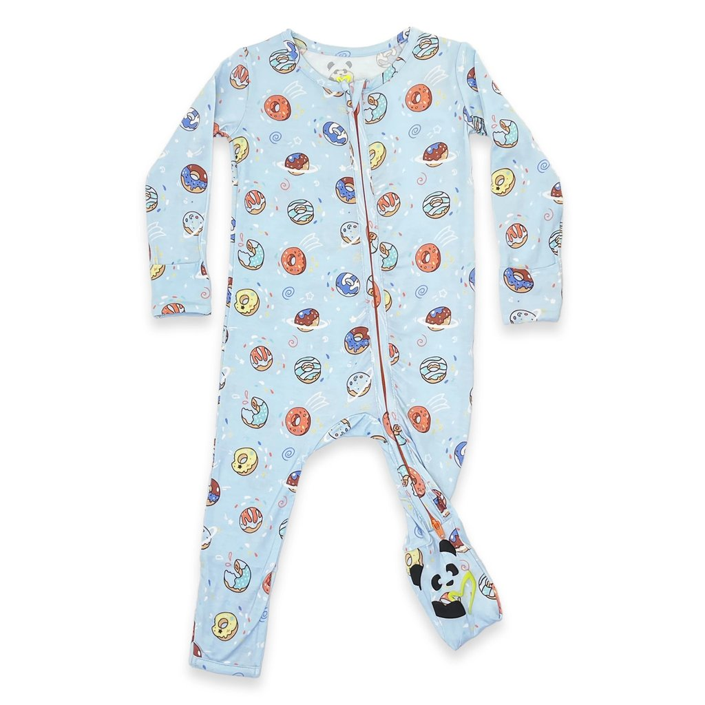 BLUE DONUT BAMBOO CONVERTIBLE FOOTIE