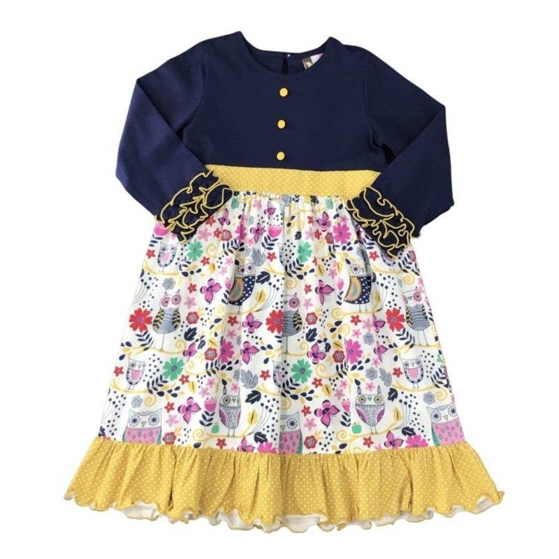 BANANA SPLIT HOOTY HOO L/S DRESS