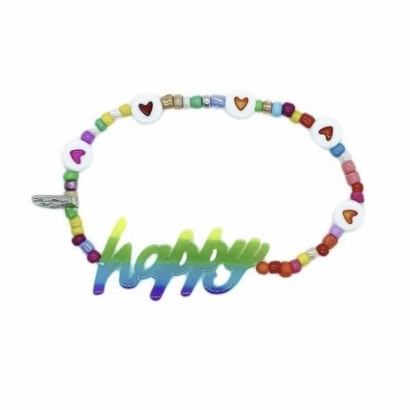 BARI LYNN PHRASE BRACELET - HAPPY