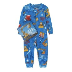 BOOKS 2 BED INFANT COVERALL AND BOOK KIT - CONSTRUCTION SITE