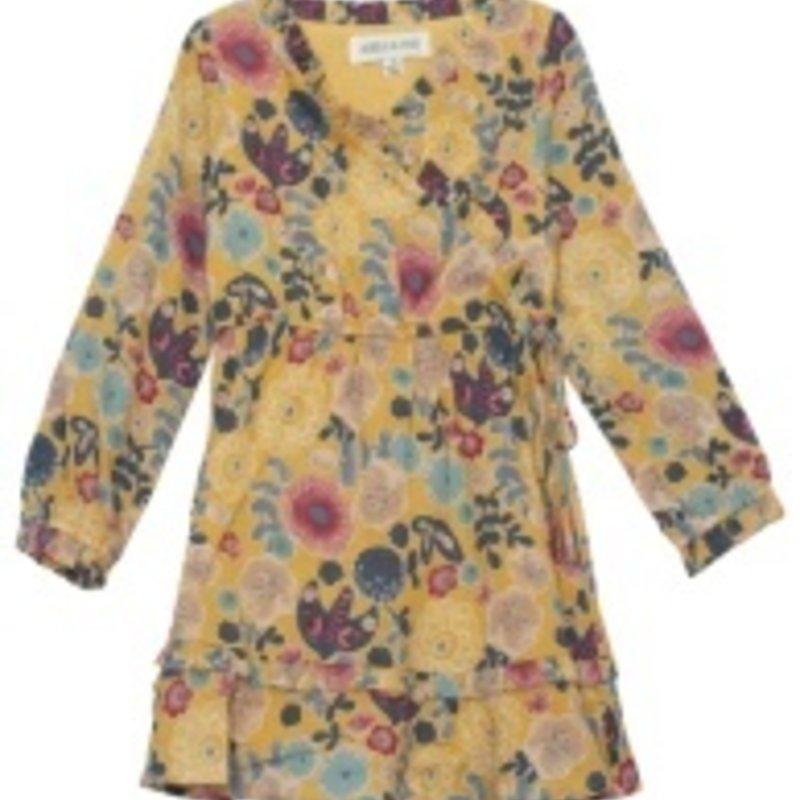 ISOBELLA & CHLOE ZEN GARDEN FLORAL WOVEN DRESS - YELLOW