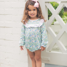 THE PROPER PEONY FALL FLORAL LS RUFFLE BUBBLE