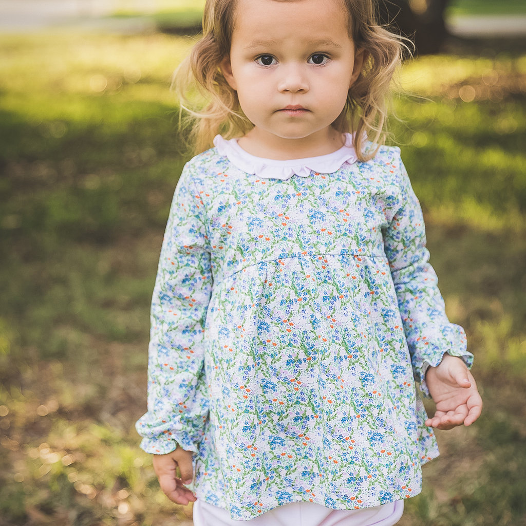 THE PROPER PEONY FALL FLORAL LS BLOOMER SET