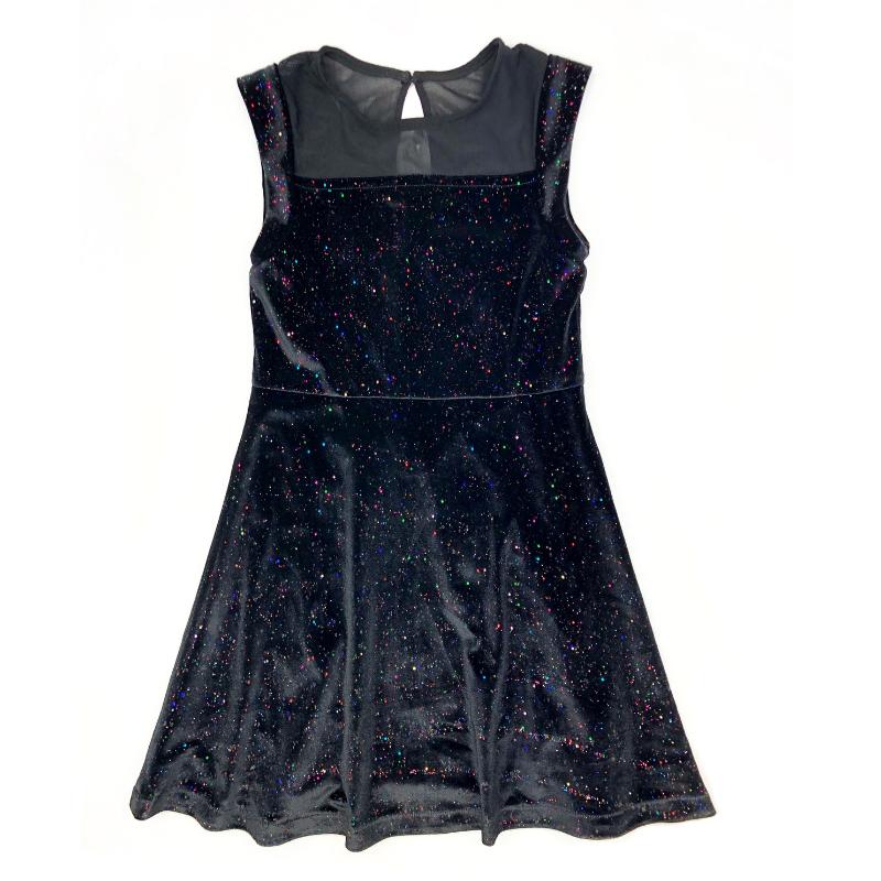 Appaman MARA DRESS - BLACK RAINBOW