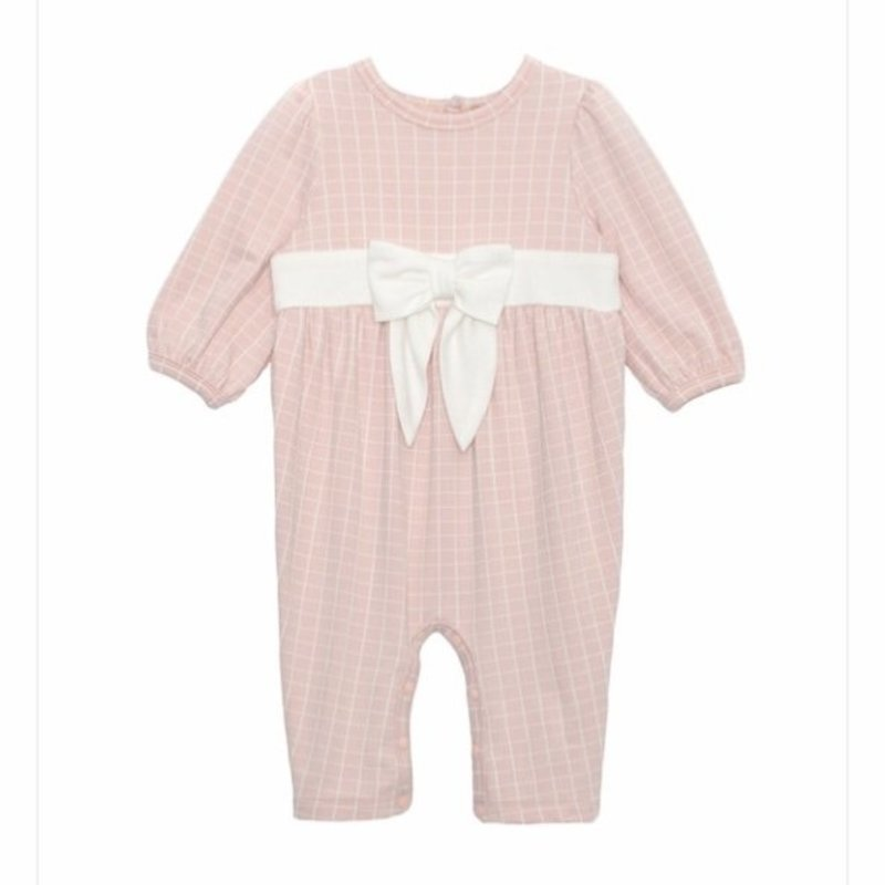 MABEL + HONEY PUT A BOW ON IT KNIT ROMPER - PINK