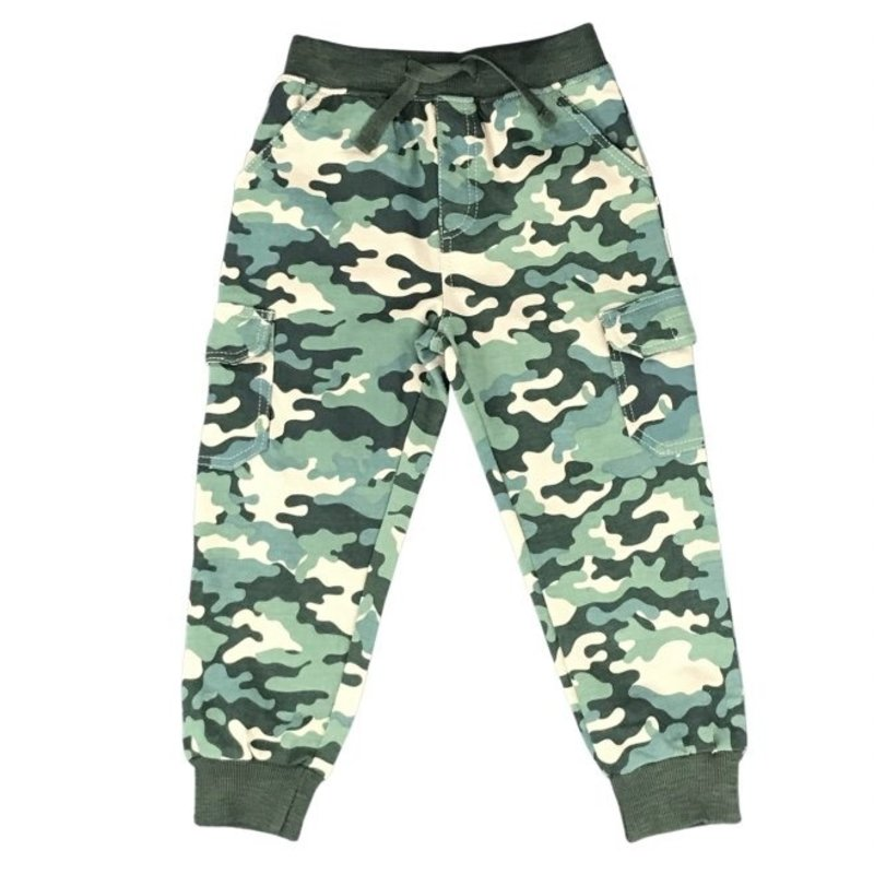OLIVE CAMO TERRY CARGO PANT